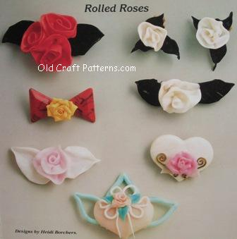 rolled roses