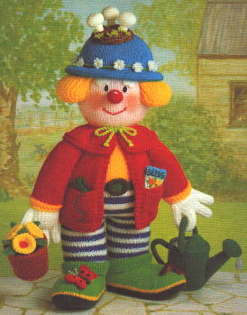 jean greenhowes knitting patterns book for knitted clown dolls –  www