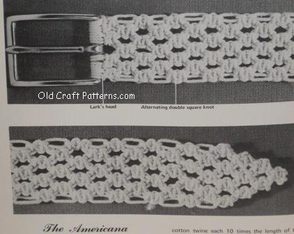 macrame belts,purses and bags patterns - www.oldcraftpatterns.com.