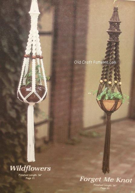 macrame hanging flower pot holders