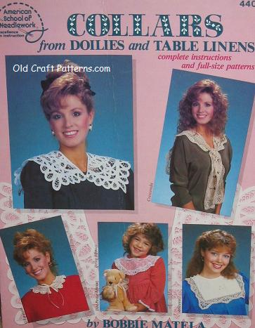 collars from doilies & table linens