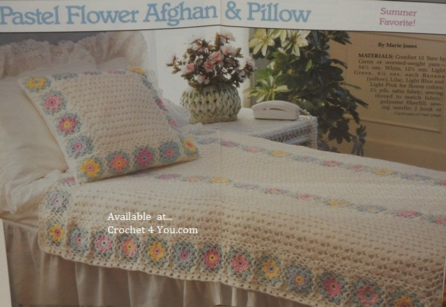 flowered afghan pattern