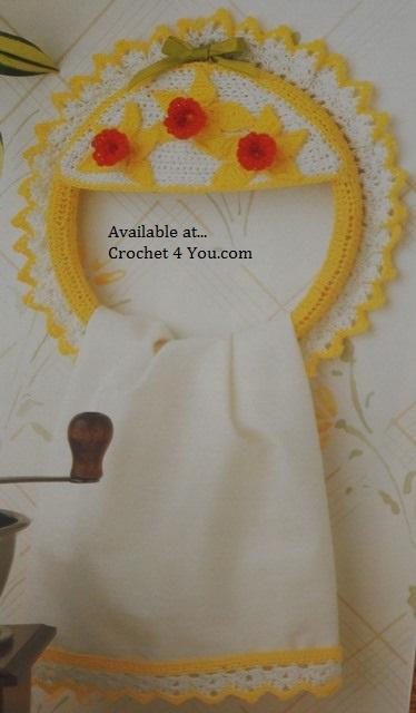 daffodil towel hanger