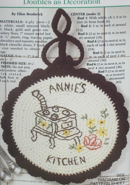 crochet trivet pattern