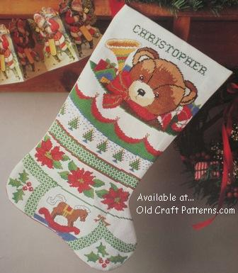 Fa-La-La Fair Isle Stocking by Vickie Howell for Bernat