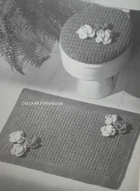 crochet bathroom set