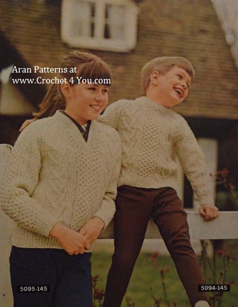 childs aran sweaters