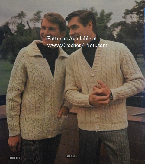 mens aran patterns