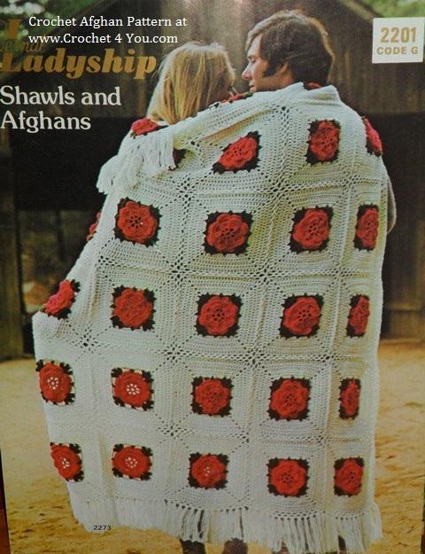 Crochet Roses Afghan