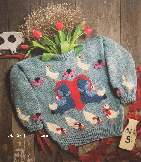 country cousins sweater pattern