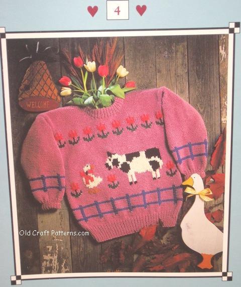 barnyard chatter sweater pattern