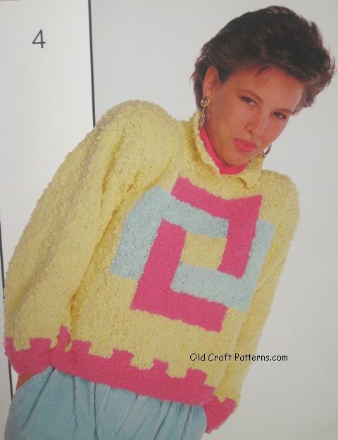 pinwheel design sweater pattern