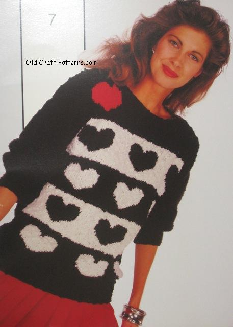 heart sweater pattern