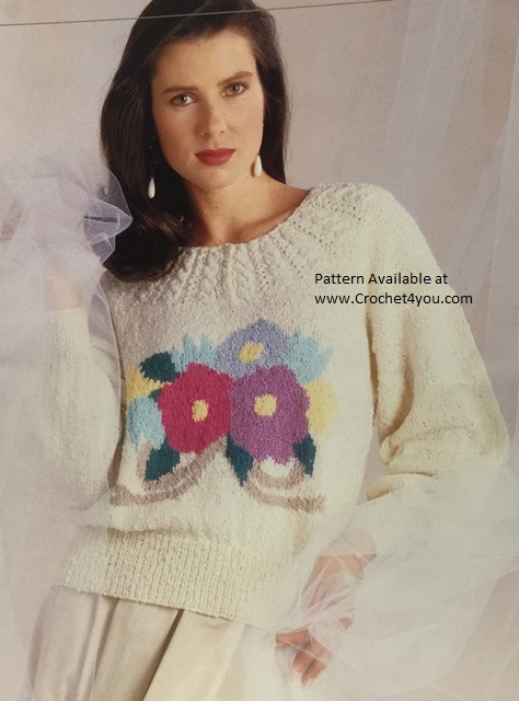 floral bouquet sweater pattern