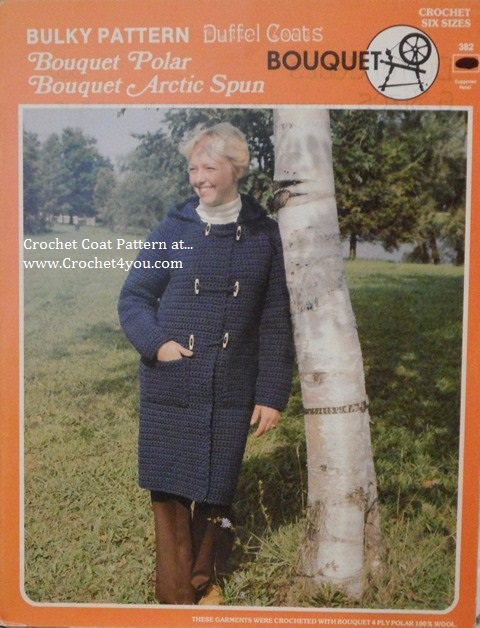 crochet duffel coat