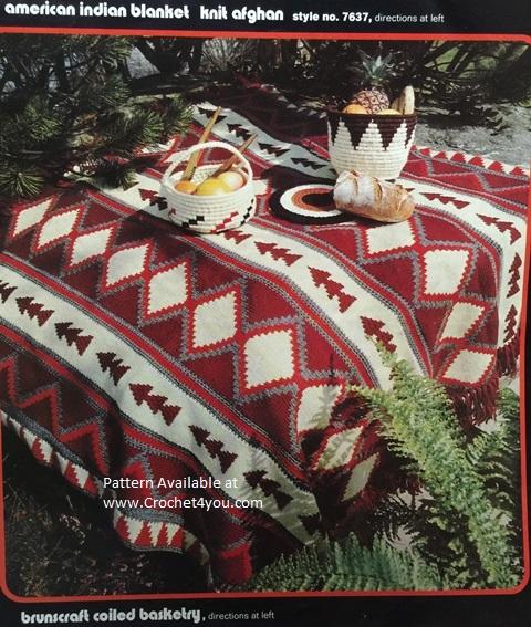 crochet woven afghan pattern