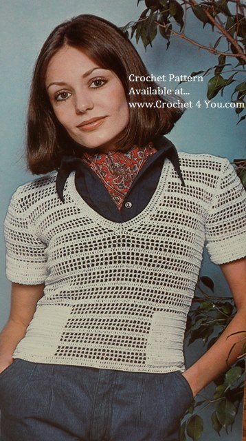 filet crochet top