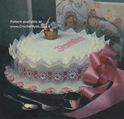 crochet cake trim