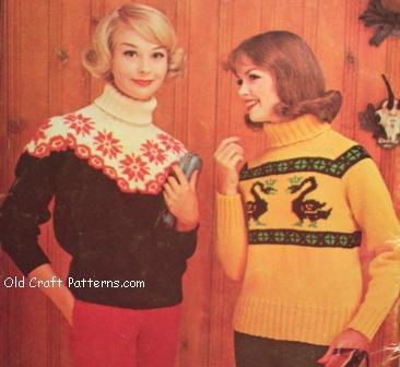 knit ski sweater