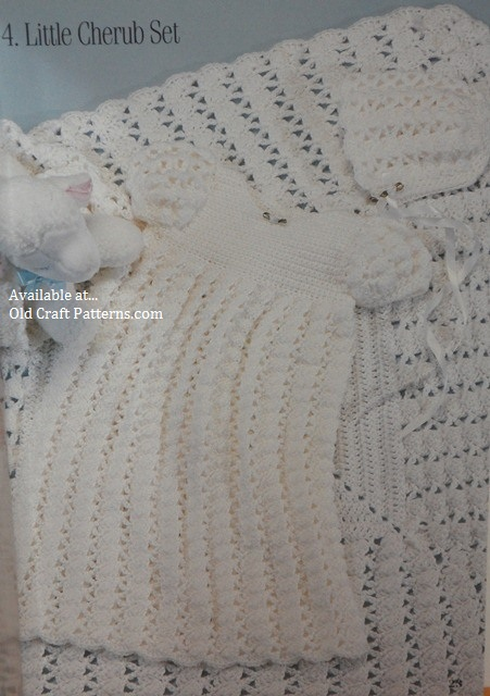 crochet christening dress