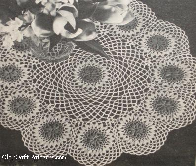wildflower doily