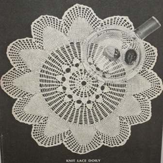 knit lacey doily