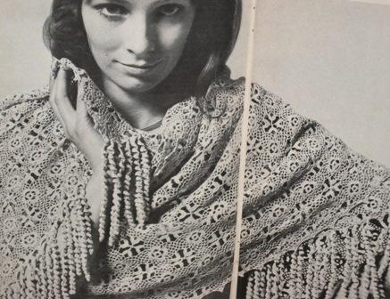 crochet motifs stole