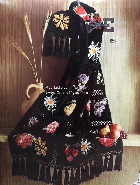 fruit flowers afghan