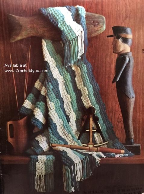 crochet striped afghan