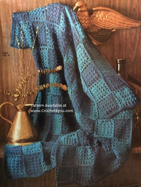 striped knit afghan