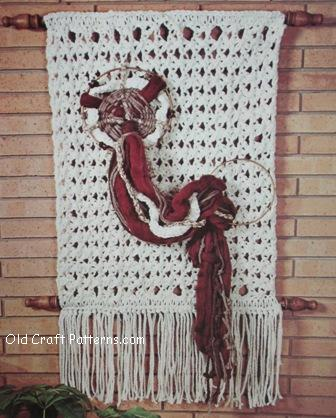 crochet wallhanging