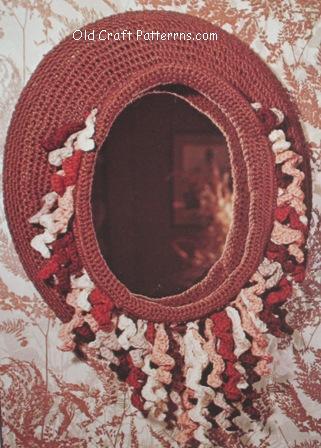 crochet mirror