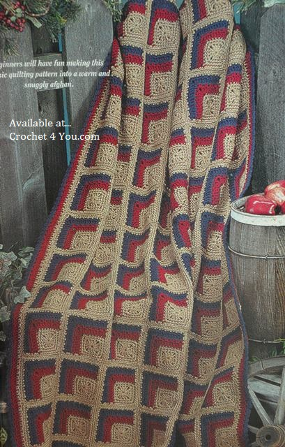 log cabin afghan pattern