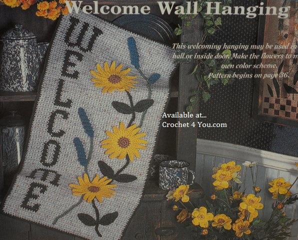 welcome hanging
