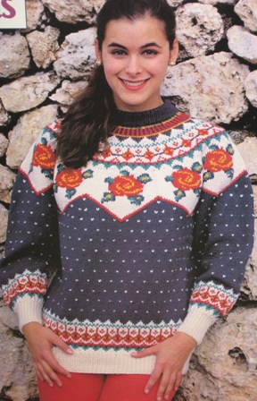 Free Knitting Pattern 971 Knitted Boat Neck Sweater : Lion