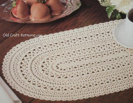 OVAL PLACEMAT CROCHET PATTERNS CROCHET