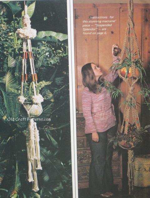 vintage macrame patterns