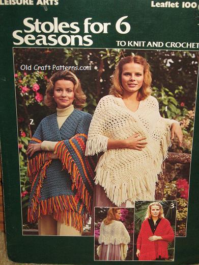 crochet knit stoles
