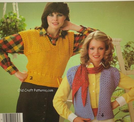 crochet pullover ladies vest