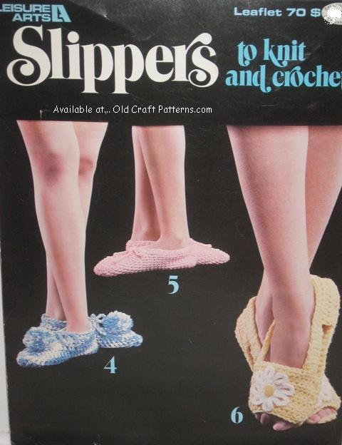 slippers patterns