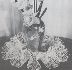 crochet shadow filet doily