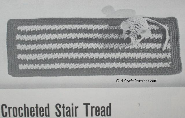 crochet stair tread