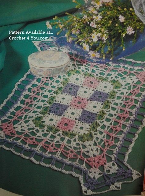 granny squares mat