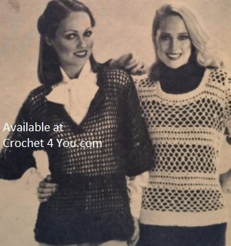 ladies crocheted top