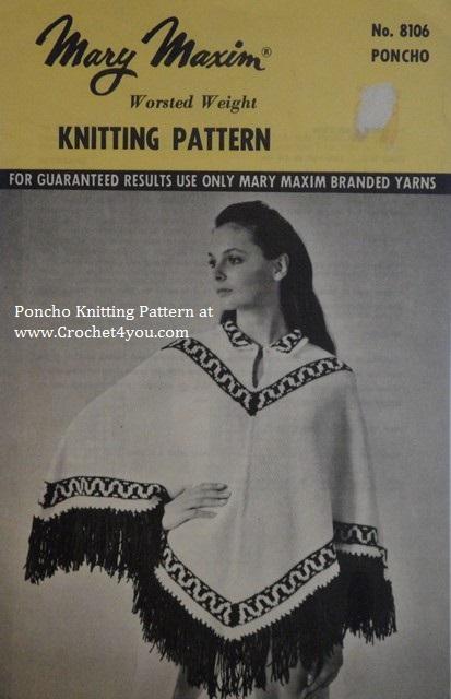 fairisle poncho pattern