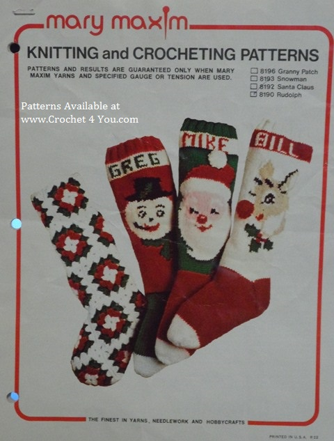 Knitted Christmas Stocking Pattern Books : christmas patterns for afghans and seasonal home decor at ...