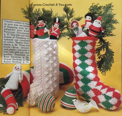 knit crochet stockings patterns
