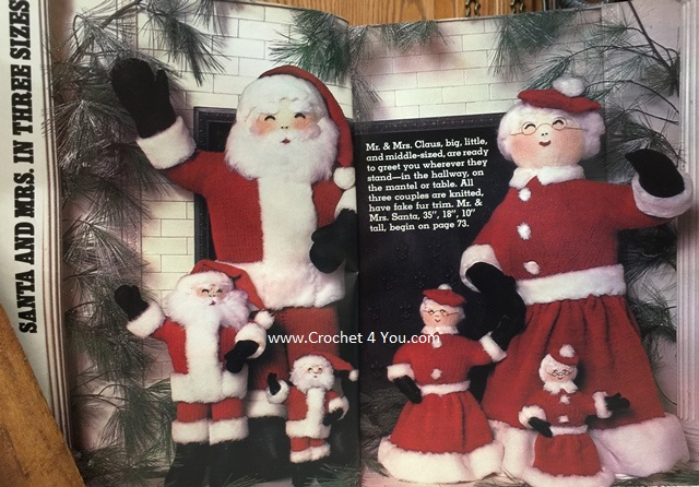 knit santa patterns