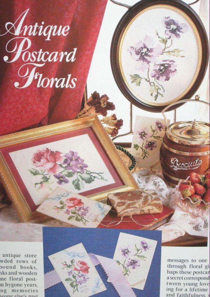 flowered needlework