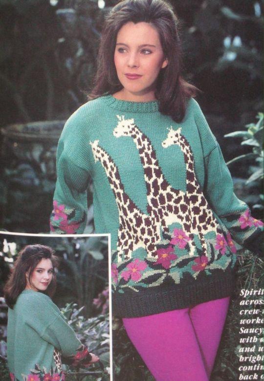giraffe knitted